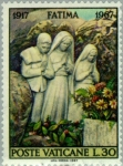 Stamps Vatican City -   50th anniversary of the apparitions of Fatima