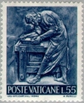Sellos de Europa - Vaticano -  El trabajo del humano