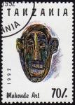 Stamps Africa - Tanzania -  COL- ARTE MAKONDE - MÁSCARA
