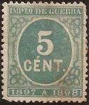 Sellos de Europa - España -  Cifras. Impuesto de Guerra  1897  5 cénts