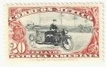 Stamps : America : Mexico :  Mensajero en motocicleta