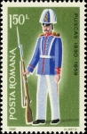 Stamps : Europe : Romania :  Uniformes