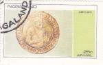 Stamps : Asia : Nagaland :  MONEDA-  James i Unite