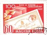 Stamps Hungary -  centenario postal