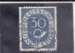 Stamps : Europe : Germany :  cifra y corneta