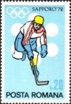 Sellos del Mundo : Europa : Rumania : Juegos Olímpicos de Invierno 1972, Sapporo