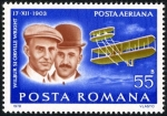 Sellos del Mundo : Europa : Rumania :  Pioneers of Aviation. Wright Brothers - Flyer I (1903)