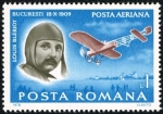 Stamps : Europe : Romania :  Pioneers of Aviation.  Louis Blériot (1909)