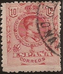 Stamps Spain -  Alfonso XIII  Tipo Medallón  1909  10 cents