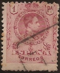 Stamps Spain -  Alfonso XIII  Tipo Medallón  1909  1 pta