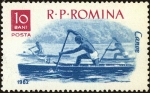 Stamps : Europe : Romania :  Deportes en barco