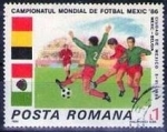 Stamps : Europe : Romania :  Football World Cup, Mexico 1986