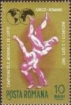 Stamps : Europe : Romania :  Campeonato Mundial de Lucha