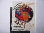 Stamps : America : Venezuela :  Día Internacional de la eliminación de la violencia contra la Mujer - 2015 . Ecuador . El Salvador .