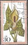 """Stamps : Europe : Germany :  """"Por el bienestar""""Arum maculatum."""