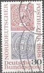 Stamps : Europe : Germany :  Confederación Alemana del Norte en 1868.