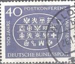 Stamps : Europe : Germany :  Centenario de la primera Internacional Postal Conferencia de París 1863.