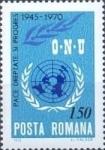 Stamps Europe - Romania -  25 años después de la O.N.U. Fundación