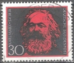 Stamps of the world : Germany :  150a Aniv nacimiento de Karl Marx.