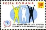 Stamps : Europe : Romania :  Año internacional contra el racismo