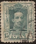 Stamps : Europe : Spain :  Alfonso XIII. Tipo Vaquer  1922 15 cents TipaA