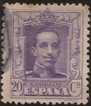 Stamps : Europe : Spain :  Alfonso XIII. Tipo Vaquer  1922 20 cents