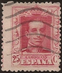 Stamps : Europe : Spain :  Alfonso XIII. Tipo Vaquer  1922 25 cents Tipo I