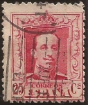 Stamps : Europe : Spain :  Alfonso XIII. Tipo Vaquer  1922 25 cents Tipo II