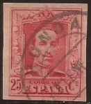 Stamps : Europe : Spain :  Alfonso XIII. Tipo Vaquer  1922 25 cents Tipo II S.dent