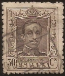 Stamps : Europe : Spain :  Alfonso XIII. Tipo Vaquer  1922 30 cents