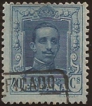 Stamps : Europe : Spain :  Alfonso XIII. Tipo Vaquer  1922 40 cents
