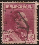 Stamps : Europe : Spain :  Alfonso XIII. Tipo Vaquer  1922 4 ptas