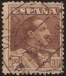 Stamps : Europe : Spain :  Alfonso XIII. Tipo Vaquer  1922  10 ptas