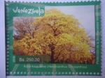 Stamps : America : Venezuela :  Protección de la Biodiversidad Venezolana - Árbol Araguaney (Handroanthus Chrysanthus)