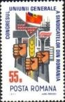 Sellos de Europa - Rumania -  Congreso Sindical Bucarest, puños con martillo, oreja y soplete