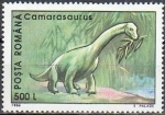 Stamps of the world : Romania :  Animales prehistóricos 1994