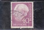 Sellos del Mundo : Europa : Alemania : presidente Theodor Heuss