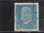 Sellos de Europa - Alemania -  paul von hindenburg, presidente de Alemania