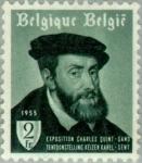 Sellos del Mundo : Europa : Bélgica : Exposición Charles V - Retrato de Charles por Tiziano