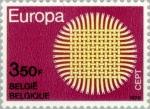 Sellos del Mundo : Europa : Bélgica : Europa (C.E.P.T.) 1970 - Llameante sol