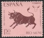 de Africa - Guinea Ecuatorial -  rio muni - 84 - Tauro, signo del zodiaco