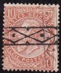 Stamps Europe - Belgium -  Leopóldo ll- filigrana