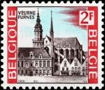 Sellos del Mundo : Europa : Bélgica : Turismo, Vista de Furnes - Veurne