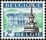 Sellos del Mundo : Europa : Bélgica : Turismo, Fuente y Kursaal, Spa