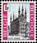 Sellos del Mundo : Europa : Bélgica : Turismo, Ayuntamiento, Lovaina - Lovaina