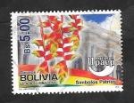 sello : America : Bolivia : 1400 - Upaep-América, Símbolos patrios
