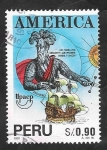 sello : America : Perú : 991 - Upaep-América, Pizarro