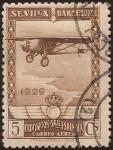 de Europa - España -  Pro Expo Sevilla Barcelona  1929  aéreo 5 cents