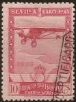 de Europa - España -  Pro Expo Sevilla Barcelona  1929  aéreo 10 cents