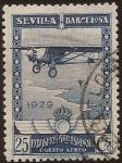 de Europa - España -  Pro Expo Sevilla Barcelona  1929  aéreo 25 cents